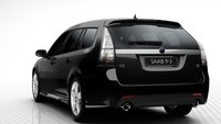 2011 Saab 9-3 SportCombi, Back quarter view. , exterior, manufacturer
