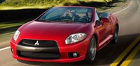 2012 Mitsubishi Eclipse Spyder, Front quarter view in motion., exterior, manufacturer, gallery_worthy