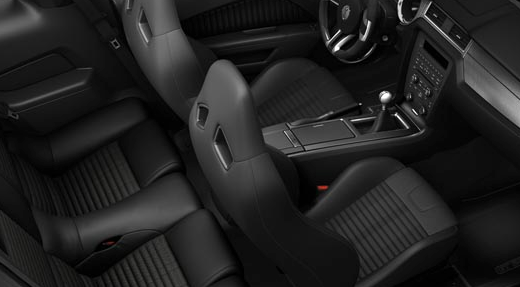 2012 Ford Shelby GT500, Front and Back Seats. , manufacturer, interior