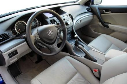 2009 Acura TSX Sedan FWD with Technology Package, bubble gum, interior, gallery_worthy