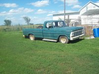 1967 Ford F-100, Really old pic. First day I got it. So far I've changed the oil, put new exhaust on and changed the tires., exterior