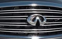 2012 Infiniti M56, Close-up of grill. , exterior, manufacturer