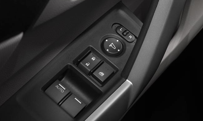 2012 Honda Civic Coupe, Close-up of door controls. , manufacturer, interior