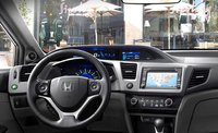 2012 Honda Civic Coupe, Steering Wheel and Navigation System. , interior, manufacturer, gallery_worthy