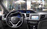 2012 Honda Civic Coupe, Steering Wheel and Navigation System. , manufacturer, interior