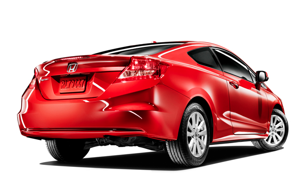 2012 Honda Civic Coupe, Back quarter view. , exterior, manufacturer, gallery_worthy