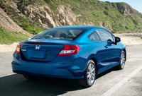 2012 Honda Civic Coupe, Back quarter view in motion., exterior, manufacturer
