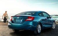 2012 Honda Civic Coupe, Back quarter view. , exterior, manufacturer