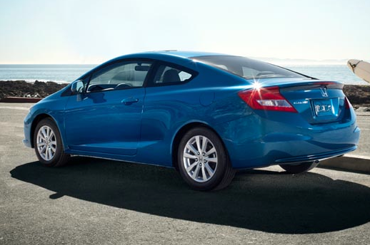 2012 Honda Civic Coupe, Back quarter view to the left. , manufacturer, exterior