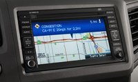 2012 Honda Civic, Close-up of navigation screen., manufacturer, interior