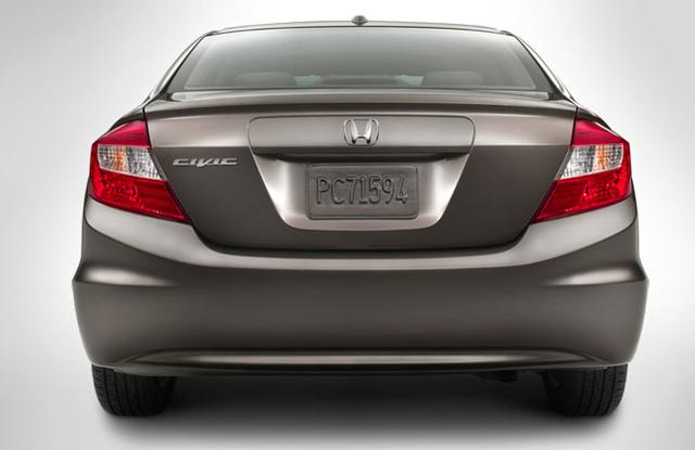 2012 Honda Civic, Back View., exterior, manufacturer