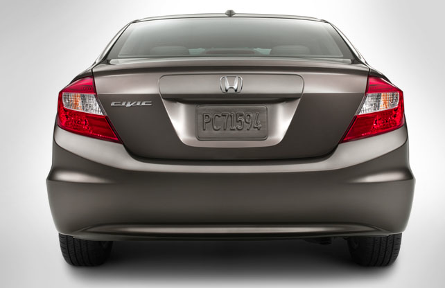2012 Honda Civic, Back View., exterior, manufacturer