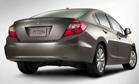 2012 Honda Civic, Back View. , exterior, manufacturer, gallery_worthy