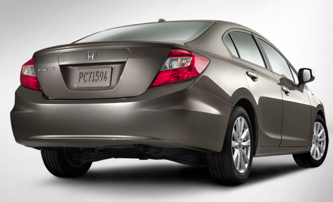 2012 Honda Civic, Back View. , manufacturer, exterior