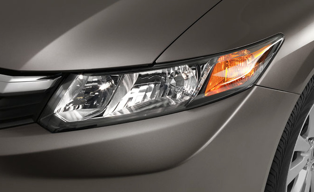 2012 Honda Civic, Close-up of headlight. , exterior, manufacturer