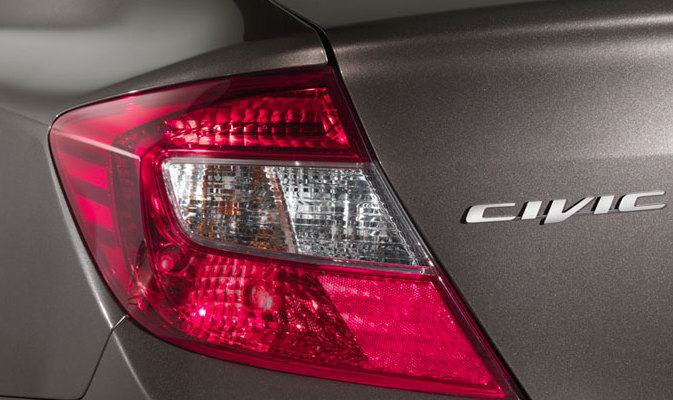 2012 Honda Civic, Close-up of tail light. , manufacturer, exterior