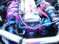 1990 Nissan 240SX 2 Dr SE Hatchback, engine compartment. See? Shiney., engine