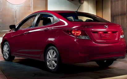2012 Hyundai Accent, Back quarter view. , exterior, manufacturer