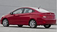 2012 Hyundai Accent, Back quarter view. , manufacturer, exterior