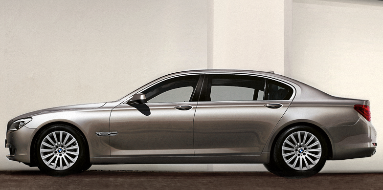 2012 BMW 7 Series, Left Side View, exterior, manufacturer