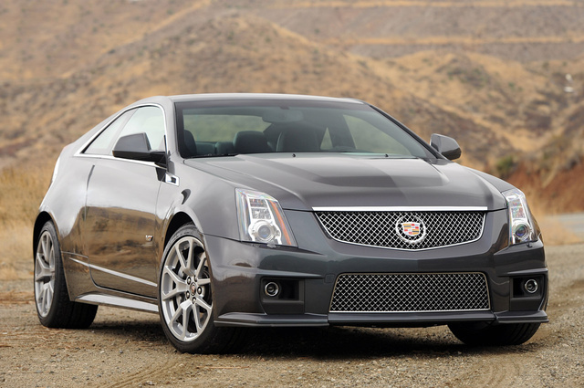 2012 Cadillac CTS-V Coupe, Front Right Quarter View, exterior, manufacturer