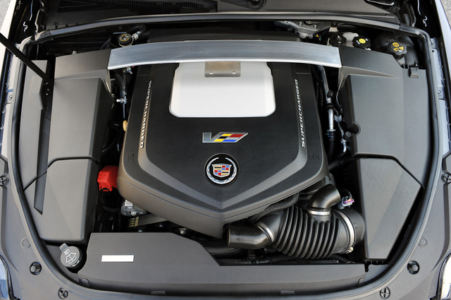 2012 Cadillac CTS-V Coupe, Engine View, engine, manufacturer
