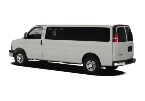 2012 Chevrolet Express, Back Left Quarter View, manufacturer, exterior