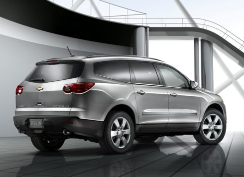 2012 Chevrolet Traverse, Back Right Quarter View, manufacturer, exterior