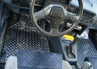 1991 Acura Integra 2 Dr LS Hatchback, Diamond-plated floor mats that I want., interior