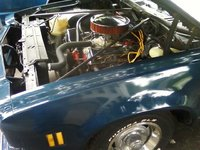 1974 Chevrolet Chevelle, under hood 350 eng with goodes, engine