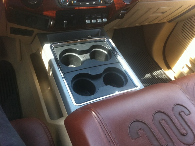 2011 Ford F-250 Super Duty King Ranch Crew Cab 4WD, Cup Holders Front, interior, gallery_worthy