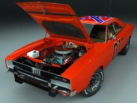 1970 Dodge Charger, General Lee 1, exterior, engine