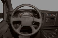 2012 Chevrolet Express Cargo, Close-up of steering wheel copyright AOL Autos. , manufacturer, interior