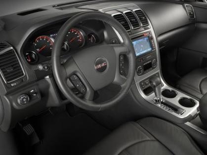 2012 GMC Acadia, Close-up of steering wheel copyright AOL Autos. , exterior, interior, manufacturer