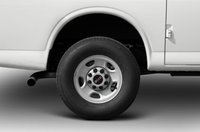 2012 GMC Savana, Close-up to tire copyright AOL Autos., exterior, manufacturer