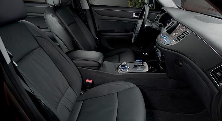2012 Hyundai Genesis, Front seat view. , interior, manufacturer