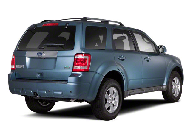 2012 Ford Escape Hybrid, Back Right Quarter View, manufacturer, exterior