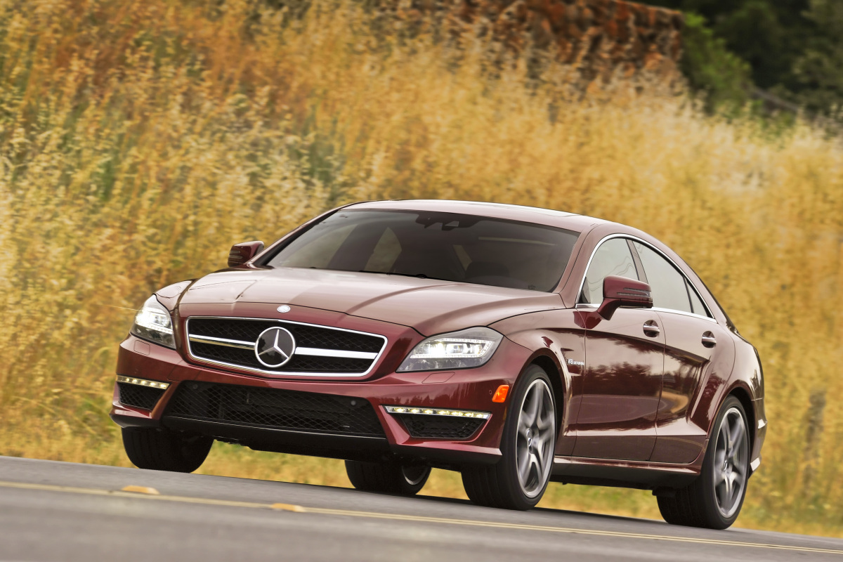 2012 Mercedes-Benz CLS-Class, Front Left Quarter View, exterior, manufacturer