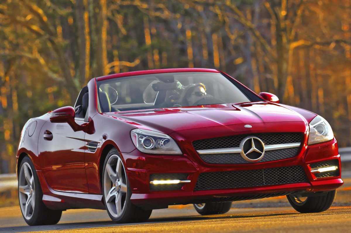 2012 Mercedes-Benz SLK-Class, Front Quarter View, exterior, manufacturer
