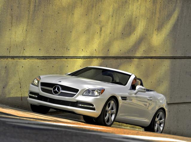 2012 Mercedes-Benz SLK-Class, Front Left Quarter View, exterior, manufacturer