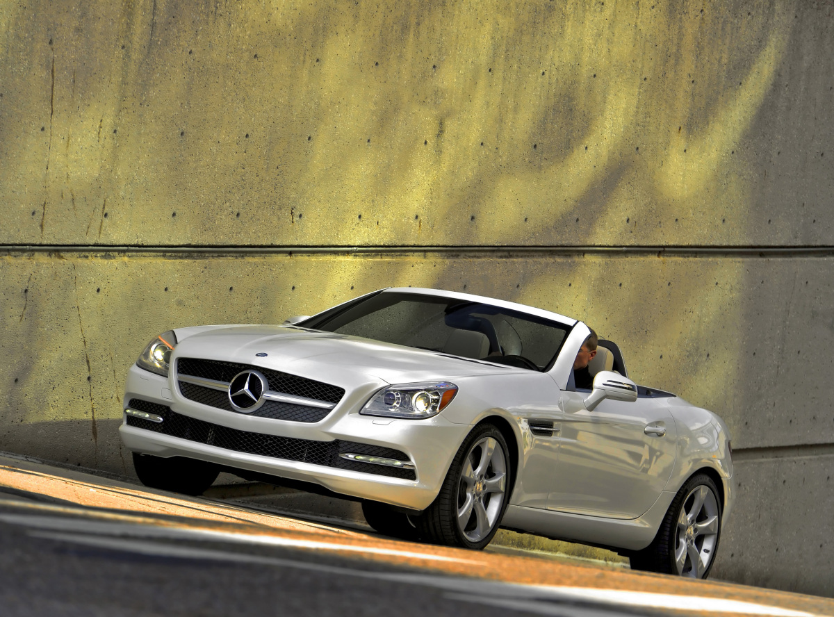 2012 Mercedes-Benz SLK-Class, Front Left Quarter View, manufacturer, exterior