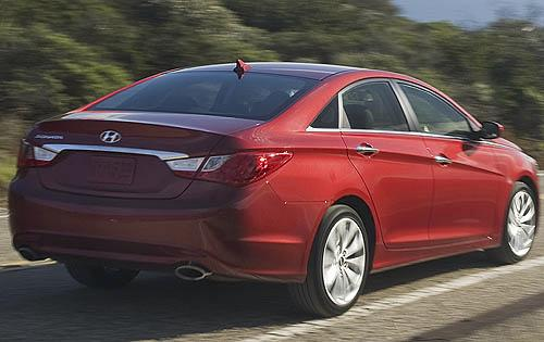 2012 Hyundai Sonata, Back Right Quarter View (Hyundai Motors America), manufacturer, exterior