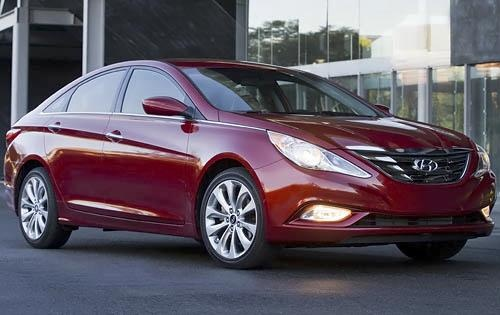 2012 Hyundai Sonata, Front Right Quarter View (Hyundai Motors America), exterior, manufacturer