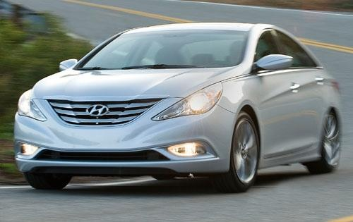 2012 Hyundai Sonata, Front Left Quarter View, exterior, manufacturer