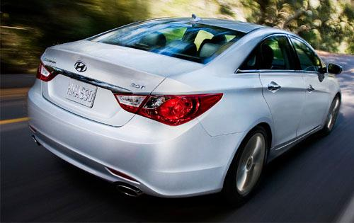 2012 Hyundai Sonata, Back Right Quarter View, manufacturer, exterior