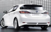 2011 Lexus CT 200h, Back Left Quarter View, exterior, manufacturer