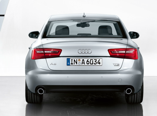 2012 Audi A6, Back View (Audi of America, Inc.), manufacturer, exterior