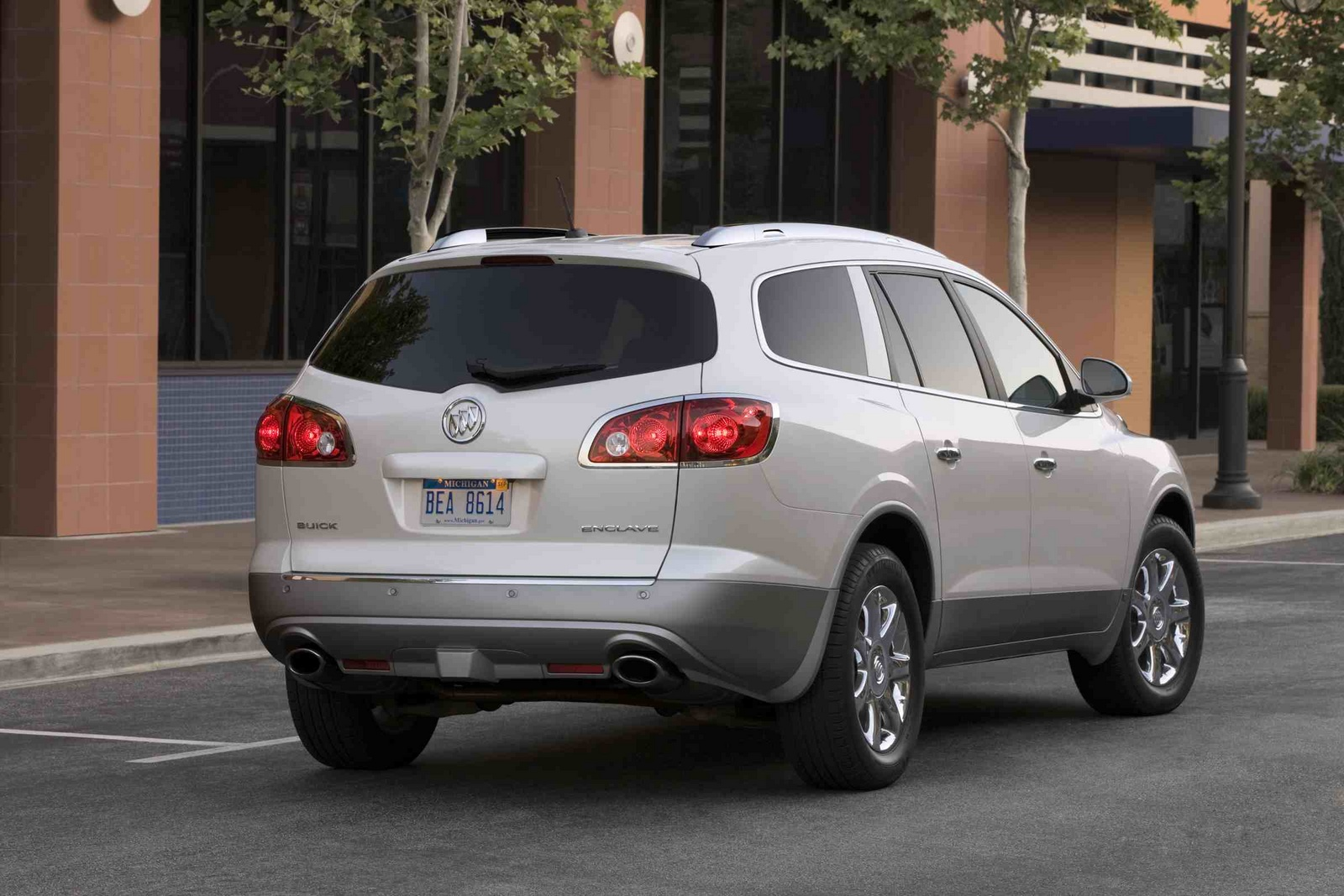 2012 Buick Enclave, Back Right Quarter View, exterior, manufacturer