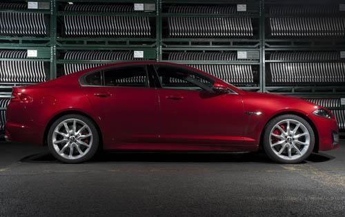 2012 Jaguar XF, RIght Side View (Jaguar Cars North America), exterior, manufacturer