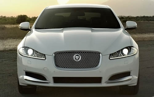2012 Jaguar XF, Front View (Jaguar Cars North America), exterior, manufacturer